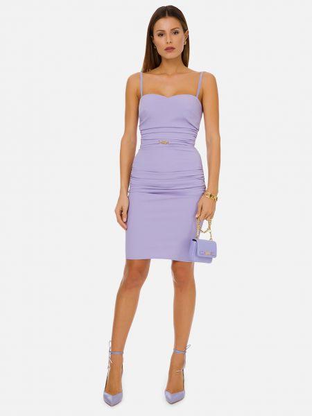 Фиолетовое платье на молнии Elisabetta Franchi