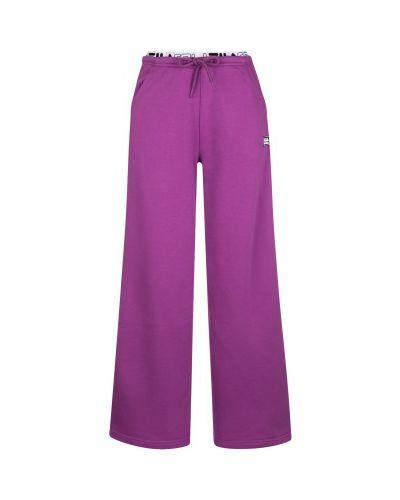 Спортивные брюки из полиэстера - фиолетовые Fila
