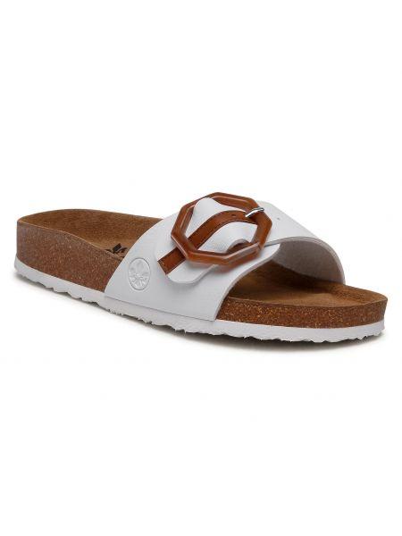 Białe sandały Rieker