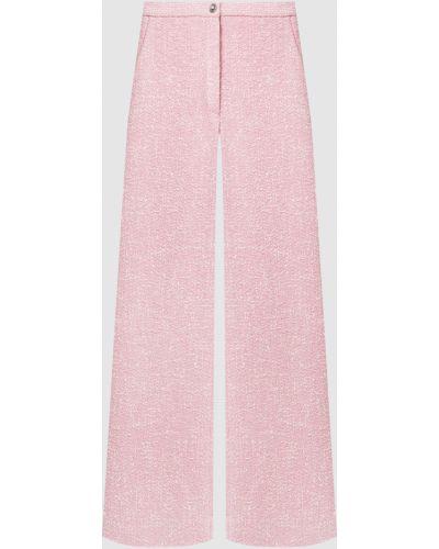 Розовые брюки твидовые Miu Miu