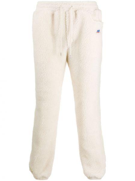 Białe spodnie z haftem z nylonu Ader Error