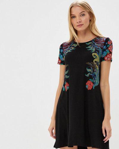 Черное платье футболка Desigual