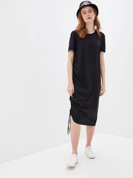 Черное футбольное джинсовое платье Calvin Klein Jeans