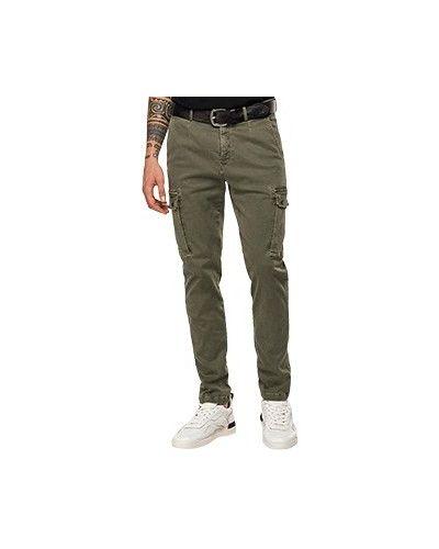 Хлопковые повседневные зеленые брюки Replay
