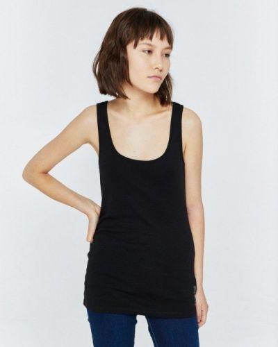 Bawełna bawełna czarny t-shirt Big Star