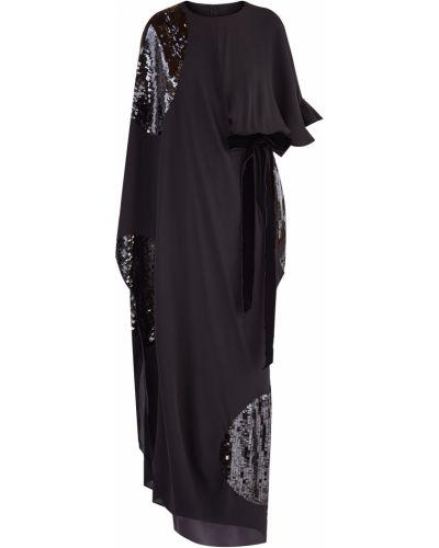 Платье с поясом макси с оборками Valentino