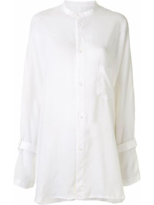 Рубашка с карманами - белая Yohji Yamamoto