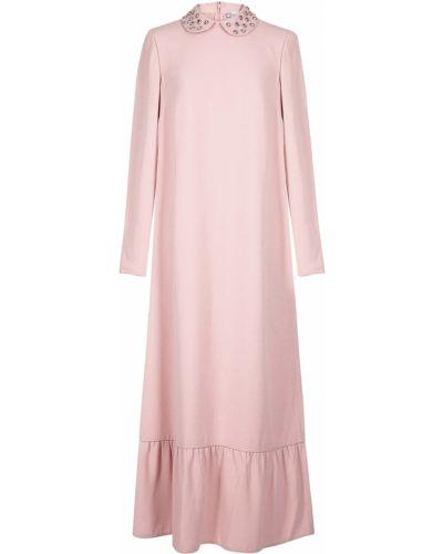 Платье макси розовое из вискозы Red Valentino