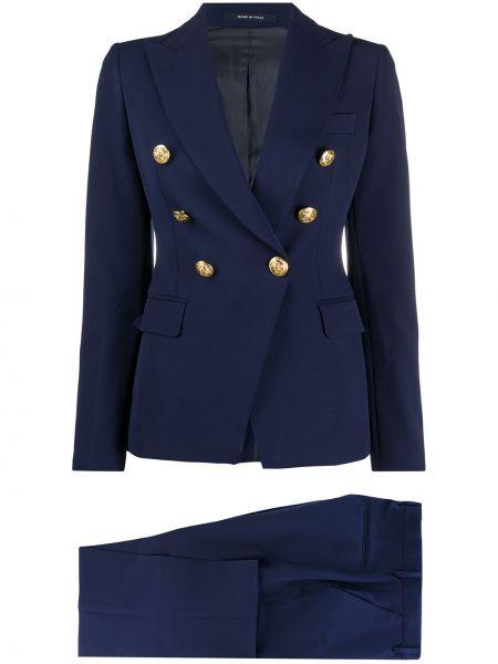 Kostium spodni garnitur dwurzędowy z kieszeniami złoto Tagliatore