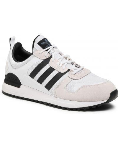 Białe półbuty skorzane miejskie Adidas