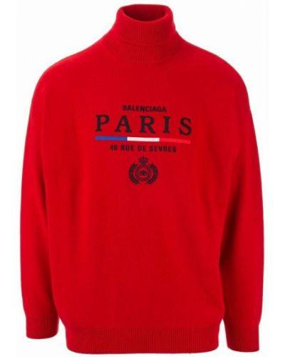 Sweter - czerwony Balenciaga