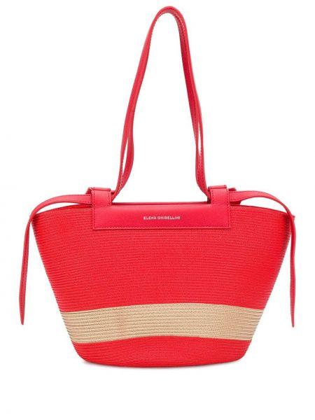 Красная сумка-тоут Elena Ghisellini