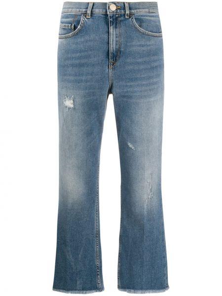 Расклешенные розовые джинсы варенки на молнии Pinko