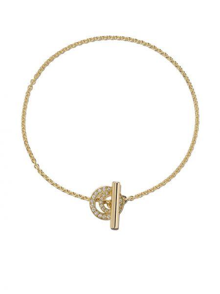 Żółta złota bransoletka ze złota z diamentem Georg Jensen