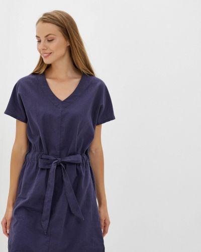 Платье прямое синее Nice & Chic