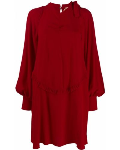 Шелковое платье - красное N°21