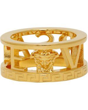 Кольцо из золота с логотипом Versace