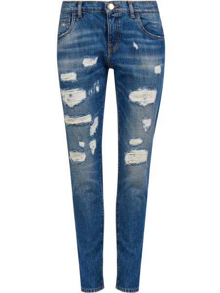 Джинсовые бойфренды - синие Trussardi Jeans