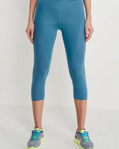 Синие леггинсы Nike