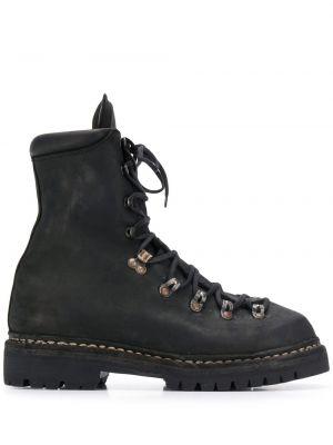 Buty skórzane na wysokości kołatka Guidi