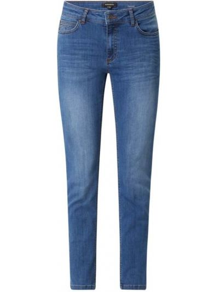 Mom jeans bawełniane - niebieskie More & More