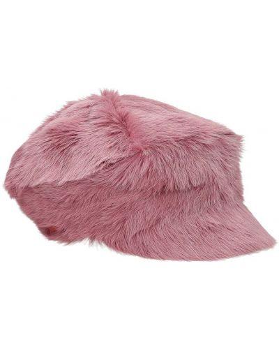 Różowa czapka na lato Prada