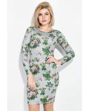 Платье в цветочный принт - серое Time Of Style