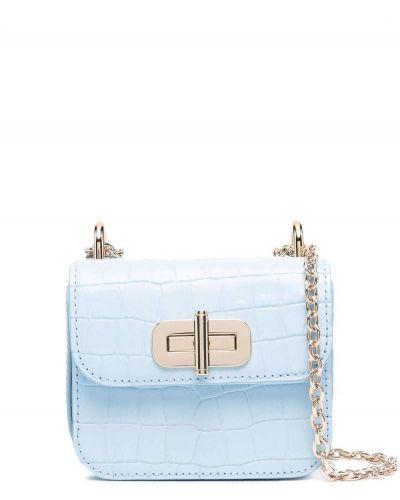 Кожаная сумка через плечо - синяя Tommy Hilfiger