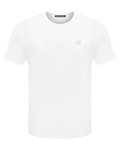 Хлопковая белая футболка Acne Studios