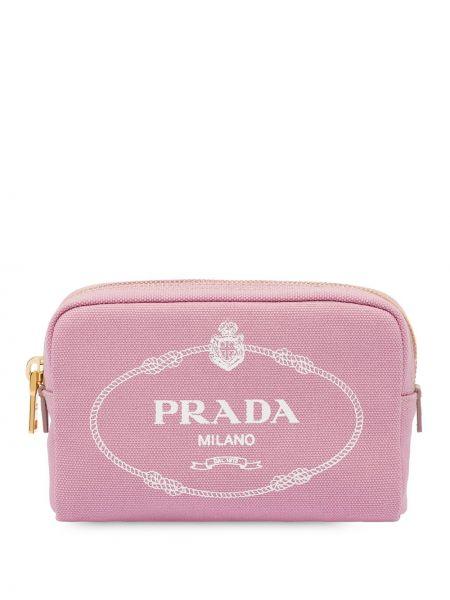 Różowy sport torba z kieszeniami Prada