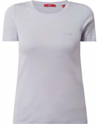 T-shirt bawełniana - fioletowa S.oliver Red Label