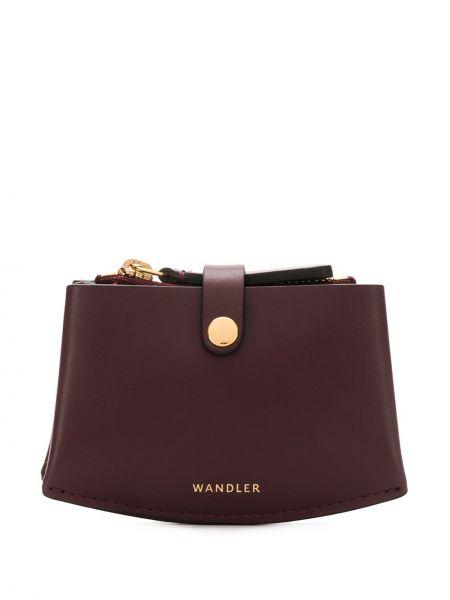 Czerwony portfel skórzany Wandler