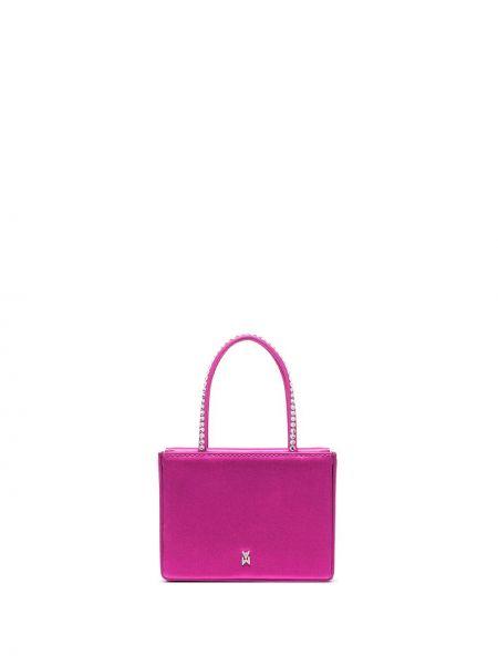 Кожаная сумка - розовая Amina Muaddi