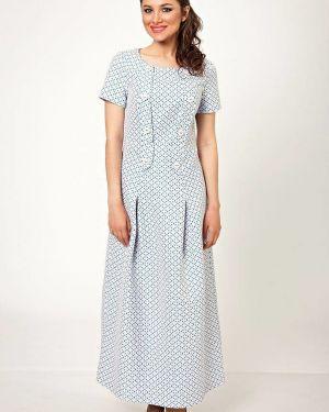 Платье на пуговицах со складками D`imma Fashion Studio