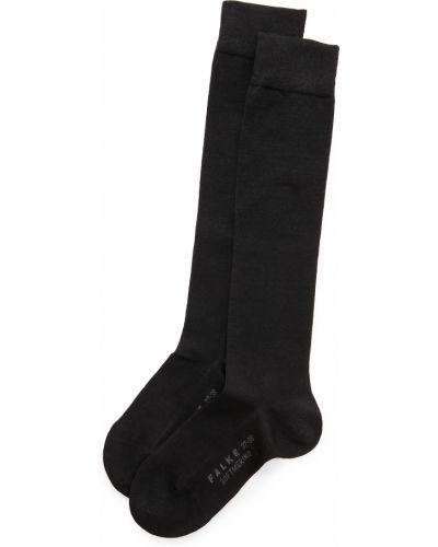 Мягкие черные шерстяные носки высокие Falke