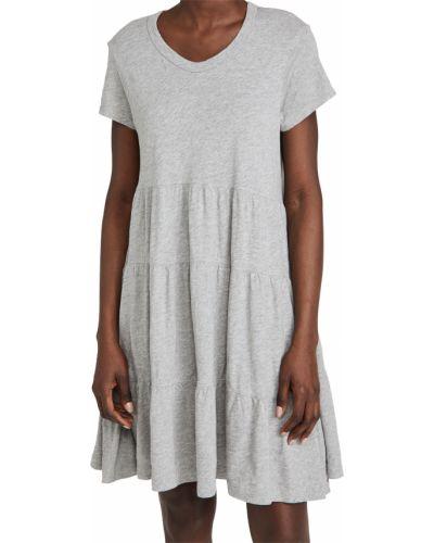 Трикотажное платье с короткими рукавами с декольте Wilt