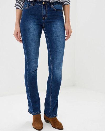 Серебряные расклешенные джинсы Sh