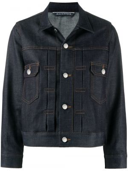 Хлопковая синяя джинсовая куртка с воротником Mackintosh