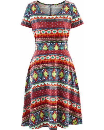 Платье с принтом с рисунком Bonprix