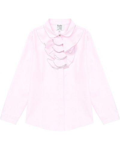 Блузка розовая с рюшами Aletta