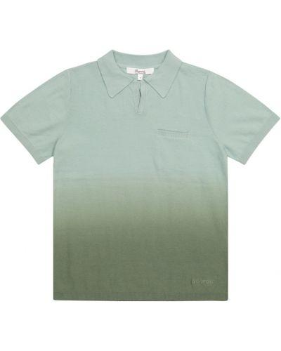 Zielona koszula bawełniana Bonpoint