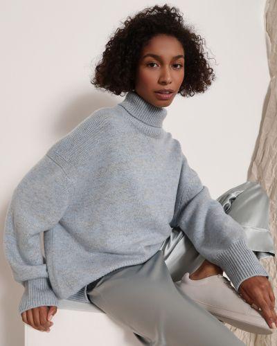 Свободный шерстяной белый свитер 12storeez