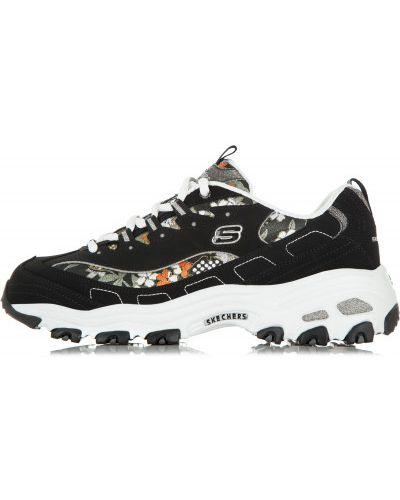 Черные кроссовки на шнуровке Skechers