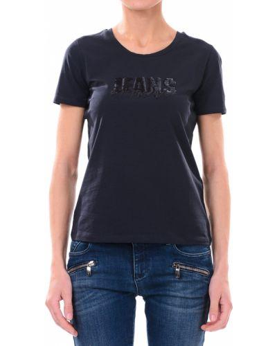 Футбольная черная футболка Armani Jeans