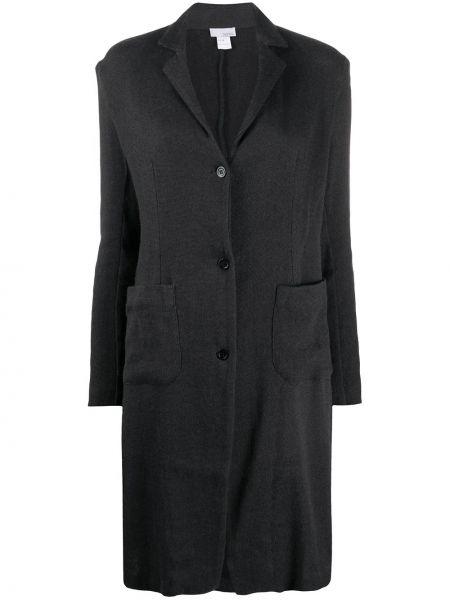 Серое кашемировое длинное пальто с капюшоном Avant Toi