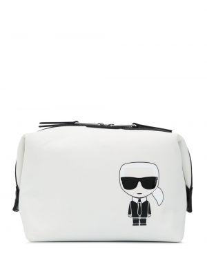 Белый несессер на молнии прямоугольный Karl Lagerfeld