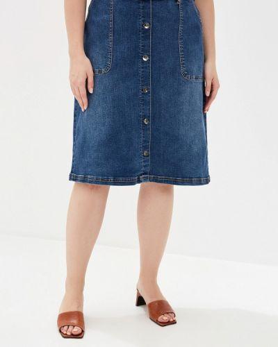 Джинсовая юбка синяя Junarose