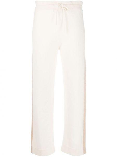 Прямые кашемировые белые брюки Chinti & Parker