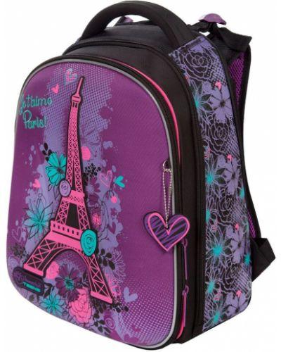 Фиолетовый школьный ранец с карманами Hummingbird