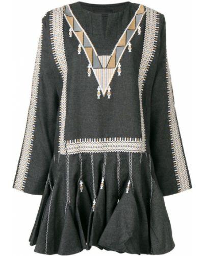 Платье серое с вышивкой Diesel Black Gold